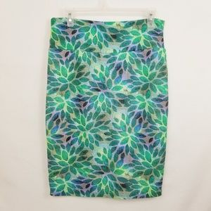 LuLaRoe Leafy Pencil Skirt